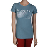 """MOTHER"" WOMEN'S SHIRT: INDIGO"