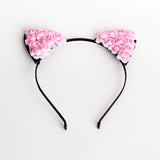 HEADBAND: CAT EARS WITH FLOWERS