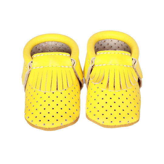 MOCCASINS: PERFORATED-YELLOW