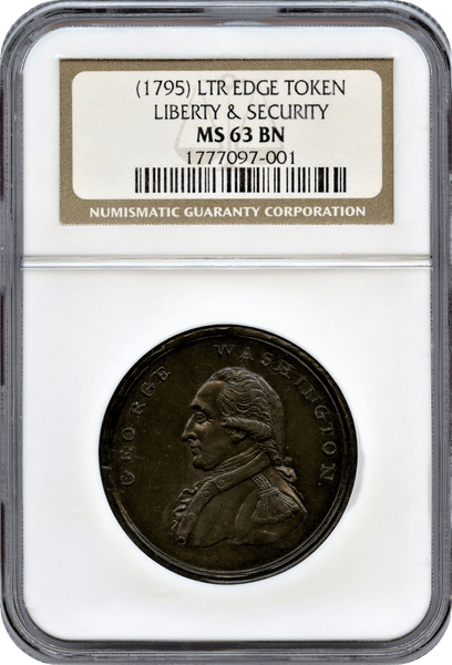 1795 George Washington. Liberty & Security NGC MS63BN