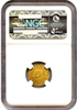 (1837-42) C.Bechtler G$1 NGC MS62 (28G, N REVERSED)