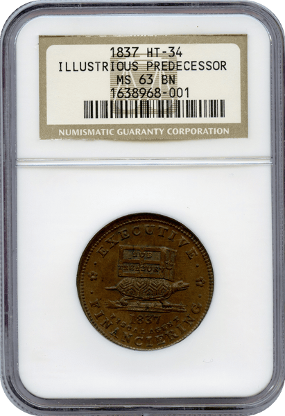 1837 Illustrious Predecessor Token NGC MS63BN   HT-34