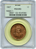 1847 Hawaii Cent PCGS MS63RD ********* Rare in Full RED ****** Low Pop