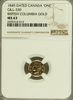 1849 ONE British Columbia NGC MS63