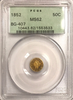 1852 California Fractional BG-407 PCGS MS62 Old Green Holder