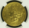 1854 $20 Kellogg & Co. Territorial Gold. Double Eagle. NGC AU Details