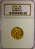 1854 $3.00 Indian Princess NGC MS 61 Three Dollar Gold