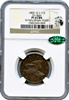 1855 Pattern 1C Flying Eagle Cent, Judd-173,Low R.7 NGC PR65BN. CAC &  Eagle Eye Sticker