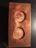 1861 Confederate Cent Restrike Impressions in a Copper Block
