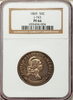 "1869 Silver .50c Pattern J-743 NGC PF66   ""Tied for Finest"""