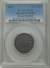 1871 12.5C Wailuku Plantation 12 1/2 Cents, Broad Starfish, PCGS XF40. VERY RARE