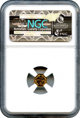 "1871 California Gold 25c BG-766 Octagonal Liberty ""G"" Mint. NGC MS64PL"