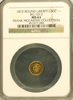 1872 Cal Gold 50c BG-1013 Round Taller Head Liberty NGC MS63