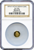 1874/3 Cal Gold 50c BG-945 Octagonal Large Head Indian NGC MS64 ProofLike