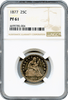 1877 25C Seated Liberty NGC PF61