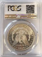 "1880-S Morgan Silver $1.00  PCGS MS66PL ""White with Rose Peripheral Toning"""