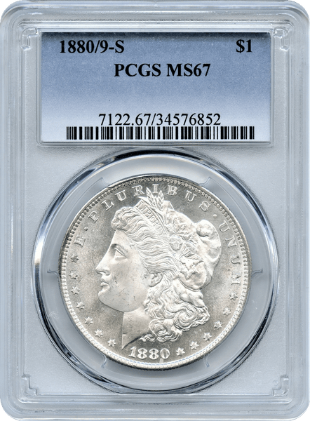 1880/9-S Morgan Silver $1.00 PCGS MS67