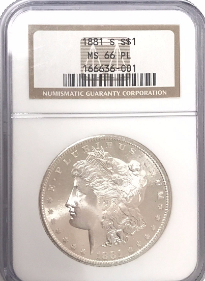 1881-S Morgan Silver $1.00 NGC MS66PL