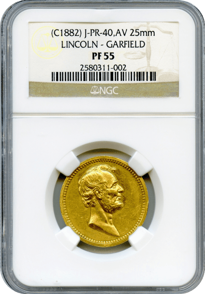 1882 U.S. Mint Julian PR-40 Gold Lincoln - Garfield NGC PF55