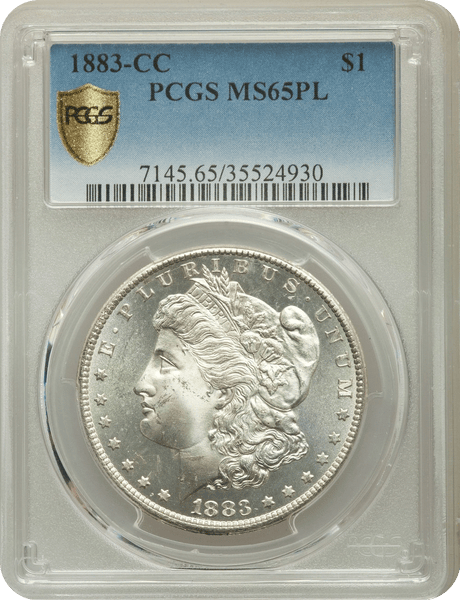 1883-CC Morgan Silver Dollar PCGS MS65 ProofLike