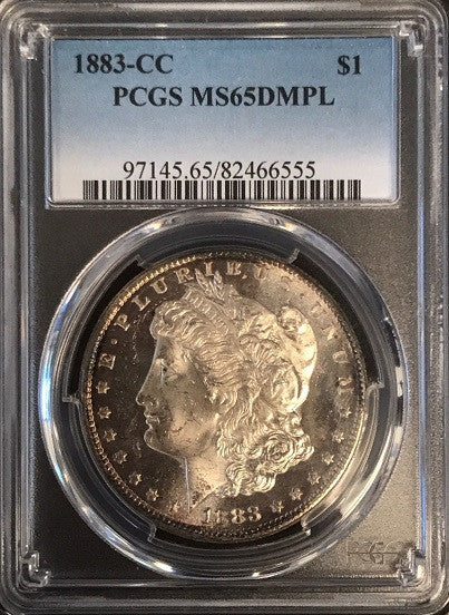 "1883-CC Morgan Silver $1.00 PCGS MS65 DMPL  ""Deep Mirror Prooflike"" ""Considered America's Most Beautiful Silver Monetary Coin"""