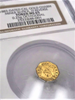 "1883 Cal Gold Charm Set.Miner With/Pick ""H"" & Miner With/Pick ""Q"" Both NGC MS65"