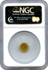 1884 California Gold Charm Eureka Sitting - Octagonal NGC MS64