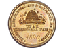 1890 Deseret Agricultural and Manufacturing Society. Utah Territorial Fair. Award Medal.