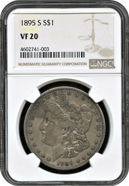 Morgan Dollar Set. 1895-S,1880-CC,1885-CC,1888-S,1888-S and 1896-O ALL NGC