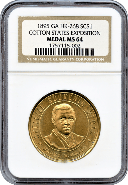 1896 HK-268 SC$1 Cotton States Exposition NGC MS64