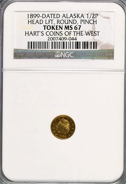 1899 Alaska Pinch Series 1/2 NGC MS67