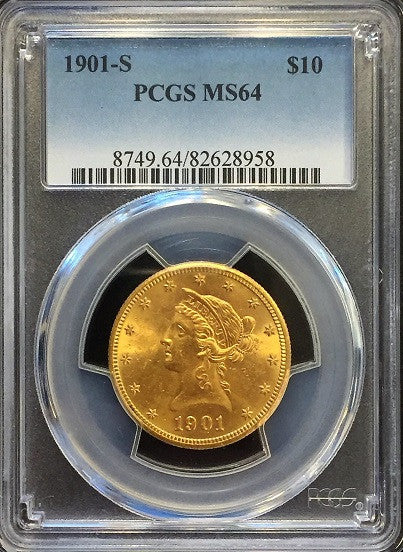 1901-S   $10.00 Gold Liberty PCGS MS64