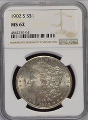 1902-S Morgan Silver $1.00 NGC MS62