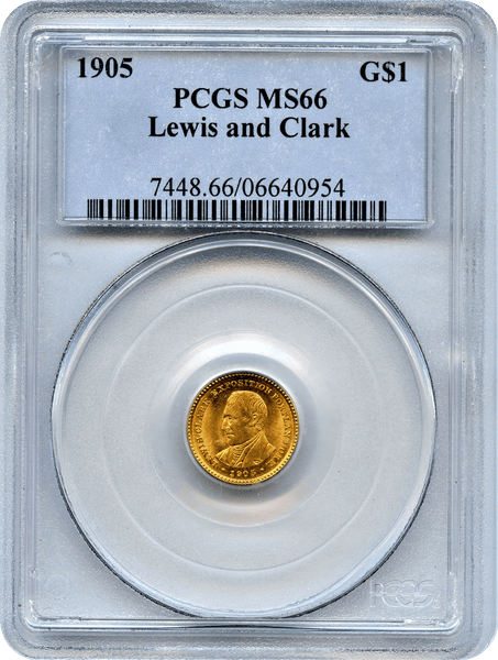 1905 Lewis and Clark Exposition Gold $1 PCGS MS66