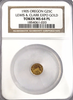 "1905 L. and C. Expo MT.Hood Gold 25c NGC MS64PL ""Low Rarity 6 of Graded Specimens"" ""Rarity 7 in Graded PL"""