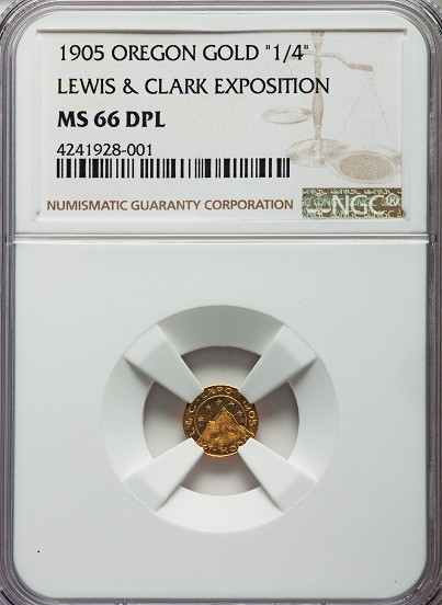 "1905 25C Lewis & Clark Expo Gold 25c  NGC MS66 DPL. ""Tied For Finest Known"""