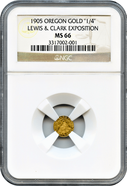 "1905 Lewis & Clark Expo Gold 25c ""LR6 Total Graded Coins"" "" Only 1 Coin in This Grade and Only 1 Coin Graded Higher"""