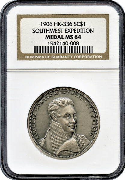 1906 Pike's Peak Centennial, HK-336 Southwest Expedition NGC MS64