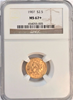 1907 $2.50 Gold liberty NGC MS67+