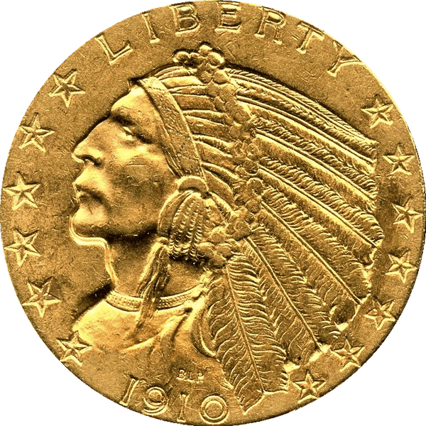 1910 $5.00 Gold Indian Choice Uncirculated
