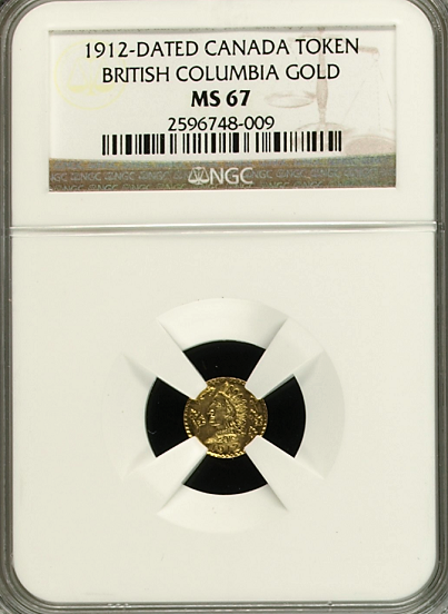 1912 British Columbia $1.00 NGC MS67 FINEST KNOWN