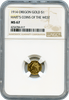 1914 Oregon Gold $1 NGC MS67