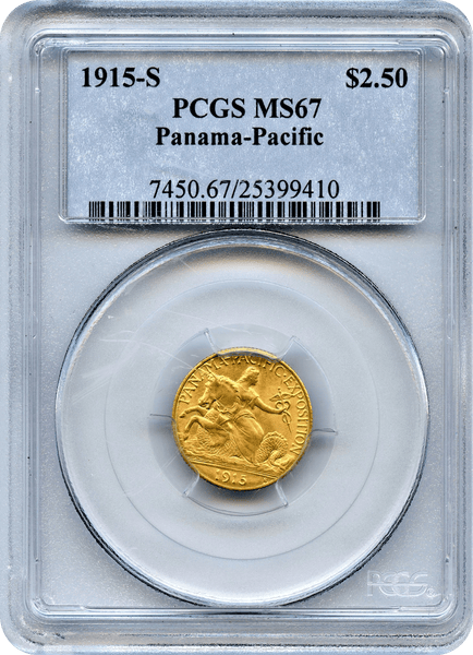 1915-S $2.50 Panama Pacific International Exposition PCGS MS67