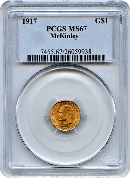1917 Mckinley Memorial Commemorative. PCGS MS67