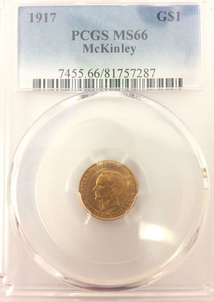 1917 Mckinley GOLD $1 PCGS MS66