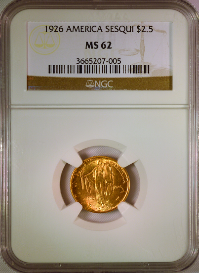 1926 Sesquicentennial $2.50 Gold NGC MS62