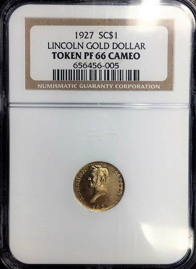 1927 Gold Lincoln NGC PF66CAM