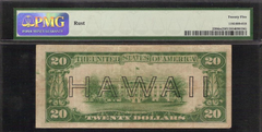 1934 MULE $20 DOLLAR BILL WWII HAWAII BROWN SEAL NOTE CURRENCY Fr 2304m PMG VF