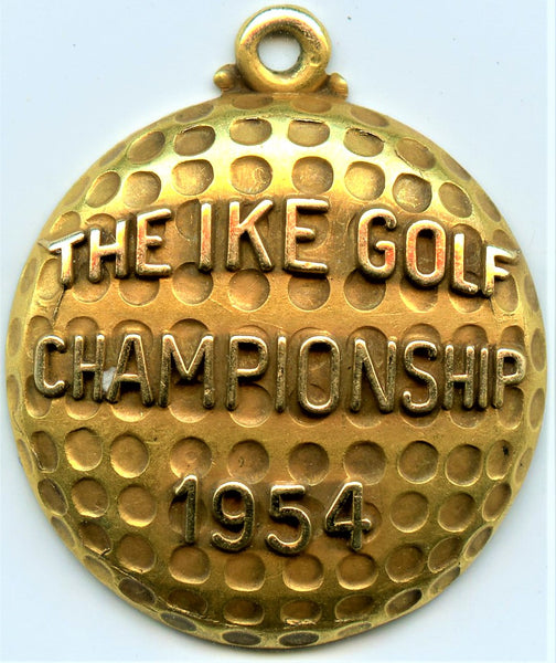 1954 The Ike Golf Championship Gold Medal
