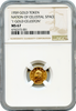 "1959 Gold Nation Celestial Space ""One Gold Celeston"" NGC MS67"